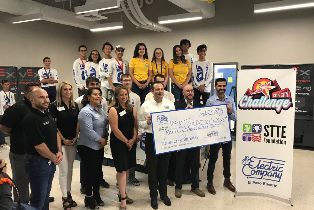 El Paso Electric Presents Grant to STTE Foundation In Support of STEAM Education