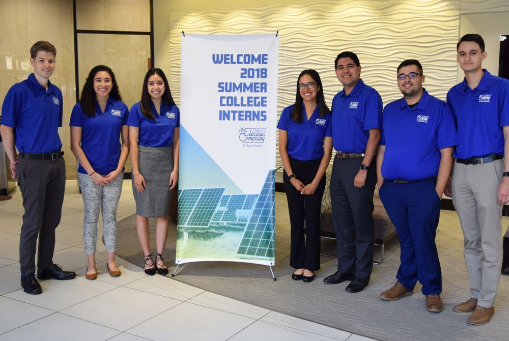 2018 EP Electric Summer College Interns Return Home to Give Back