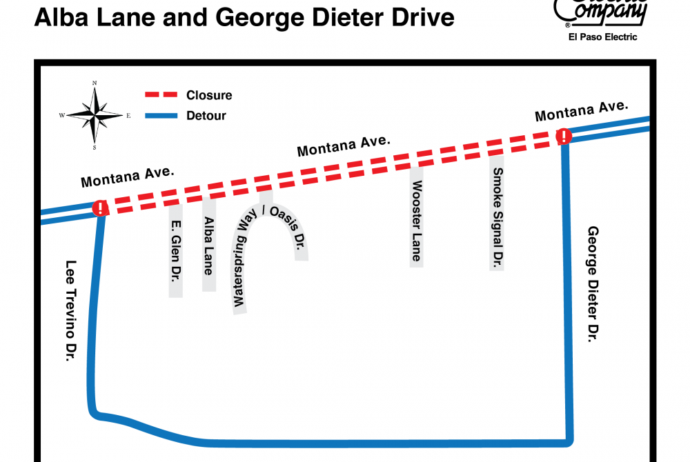 Road Closure: EPE To Conduct Work Along Montana Avenue