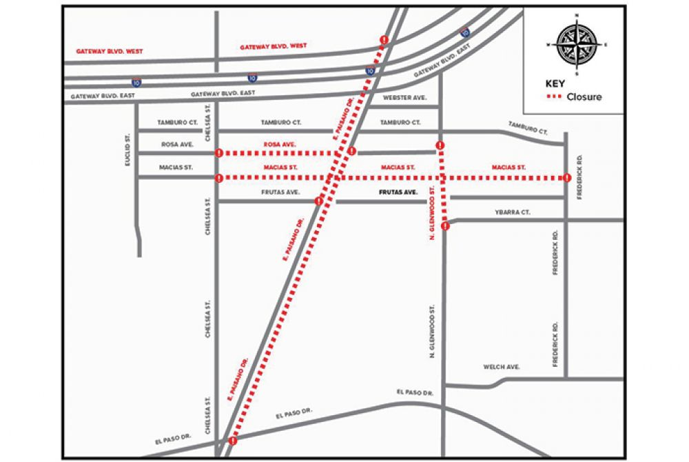 Road Closure: El Paso Electric to Conduct Work Along E. Paisano Drive