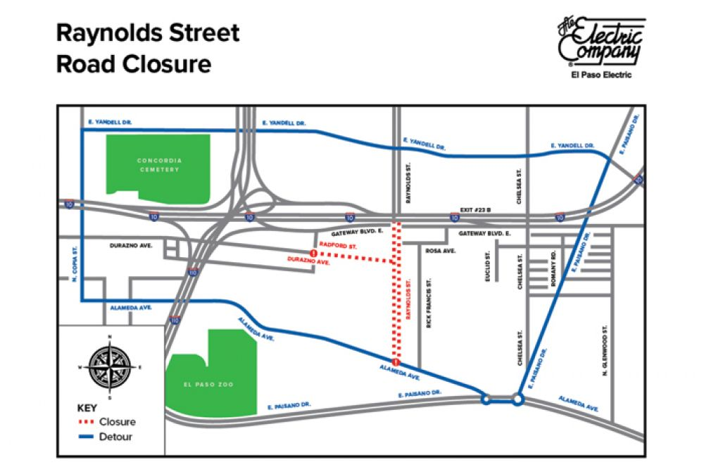 Daytime Road Closure: EPE to Conduct Work Along Raynolds Street