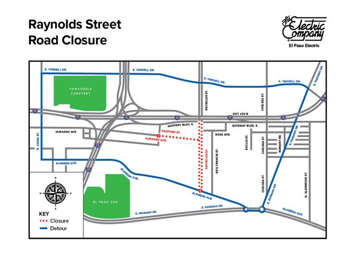 Overnight Road Closures: EPE to Conduct Work Along Raynolds St.