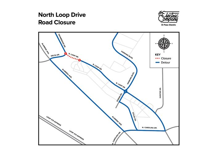 Daytime Road Closure: El Paso Electric to Conduct Work Along North Loop Drive